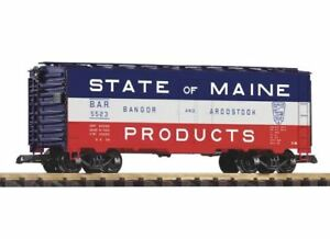PIKO-G-SCALE-BAR-BOXCAR-STATE-OF-MAINE-BN-38859