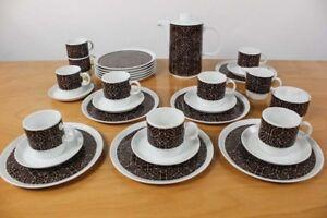 Melitta-Kaffee-Service-Bremen-Porzellan-Geschirr-31teilig-Vintage-Design-70er
