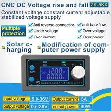 New Listingdc Dc Buck Boost Converter Cc Cv 06 36v 5a 80w Power Supply Module Adjustable