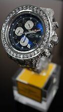 24Ct Diamond Breitling Super Avenger Black Authentic Watch ***HUGE SALE!!!!!!