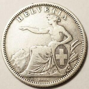 SUISSE-1-FRANC-ARGENT-1861B