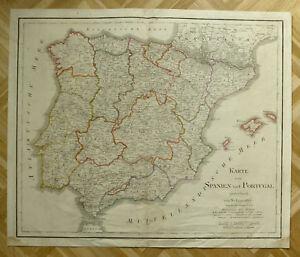 1823 SPANIEN PORTUGAL BALEAREN MALLORCA KUPFERSTICH LANDKARTE Stich ...