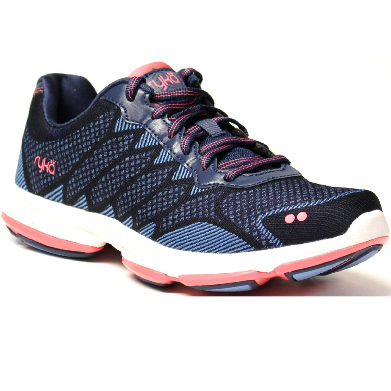 Women Ryka DOMINION E3616M1400 Blue Coral Lace-Up Walking Sneaker Shoes