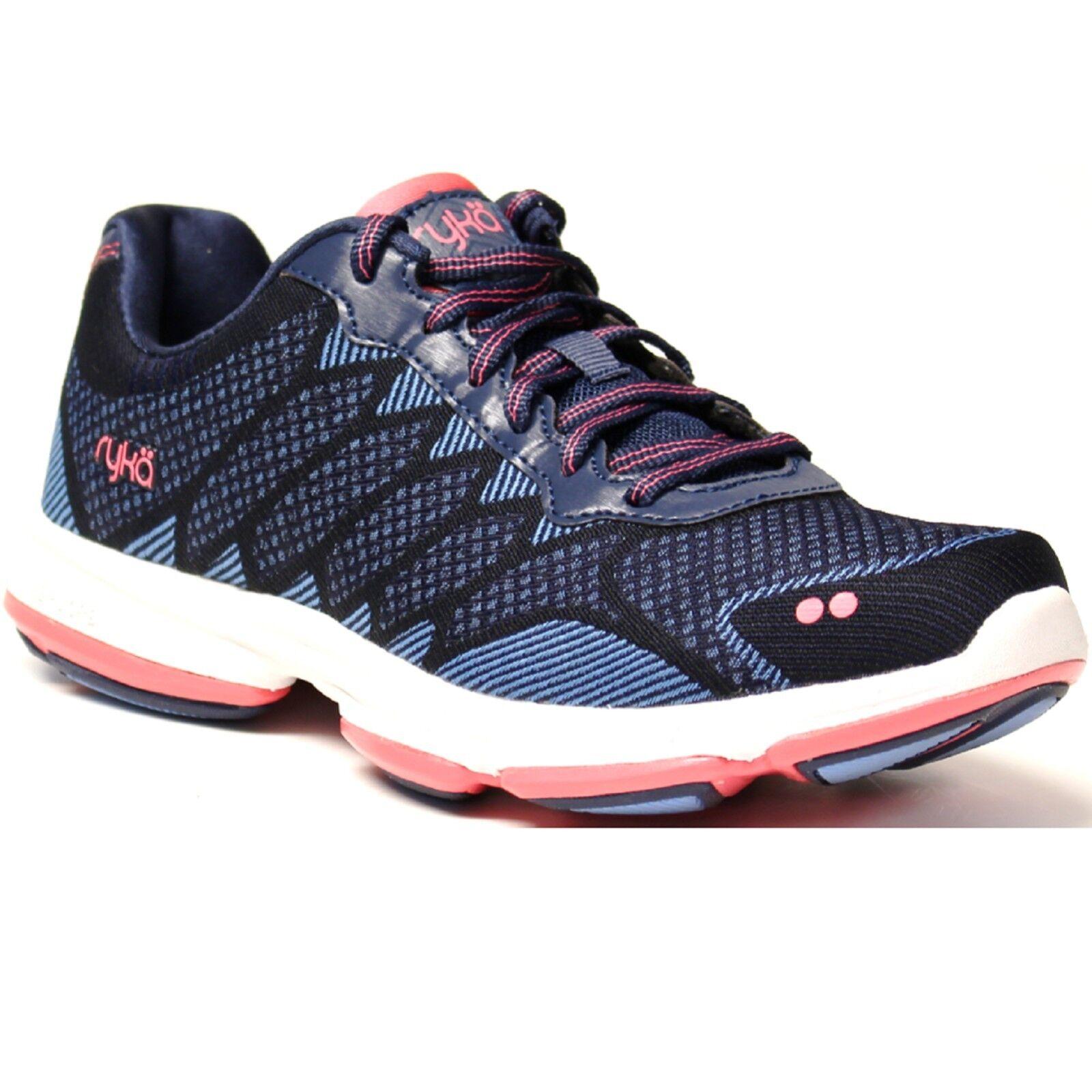 Women Ryka DOMINION E3616M1400 bluee Coral Lace-Up Walking Sneaker shoes
