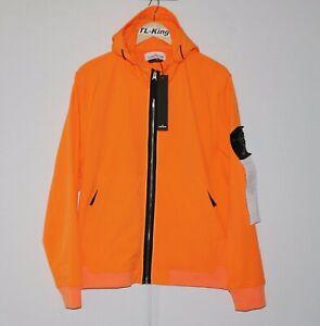 Stone-Island-Light-Soft-Shell-R-Jacket-Orange-sz-L