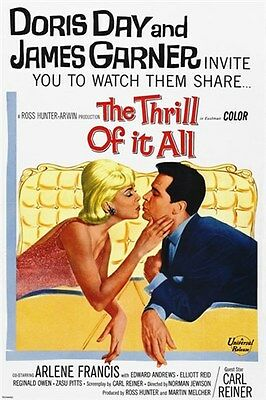 the THRILL of it ALL classic movie poster JAMES GARNER DORIS DAY 24X36 rare