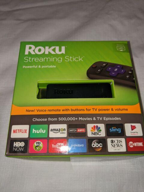 Roku Streaming Stick (6th Generation) 3800RT - Black