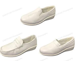 Womens-Comfort-Nurse-Shoes-Leather-Lined-Slip-On-Wide-Width-Medical-Work-Loafer