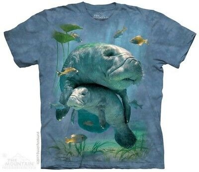 Manatees Collage T-Shirt by The Mountain Aquatic Ocean Sizes S-5XL NEW