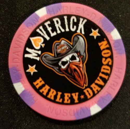 Pink//Purple Harley Poker Chip Full Color Wide Print MAVERICK HD ~ TEXAS