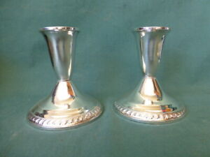 925 Weighted Candle Holder Vintage Duchin Creation Sterling Silver