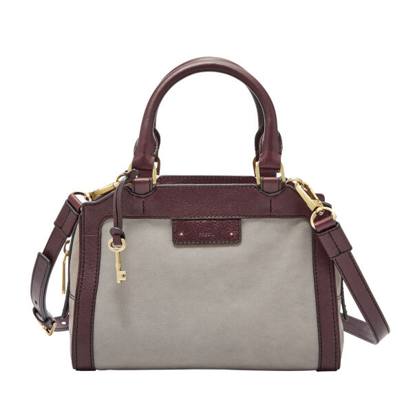 38c3de7e1d Fossil Logan Small Satchel Grey Zb6973020 for sale online