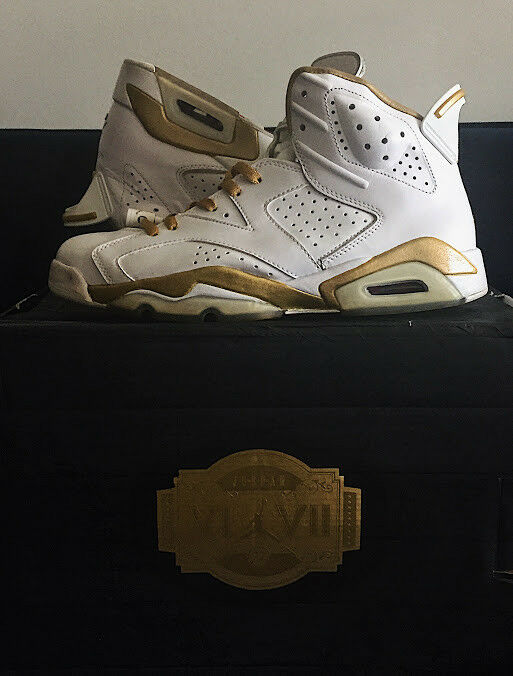 RARE Jordan Gold Moments Pack GMP Gold Moments Pack VI VII 6 7 Size 10