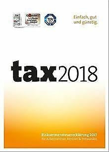 Tax 2018 (für Steuerjahr 2017)   PC   Disc von Buhl ...   Software   Zustand gut