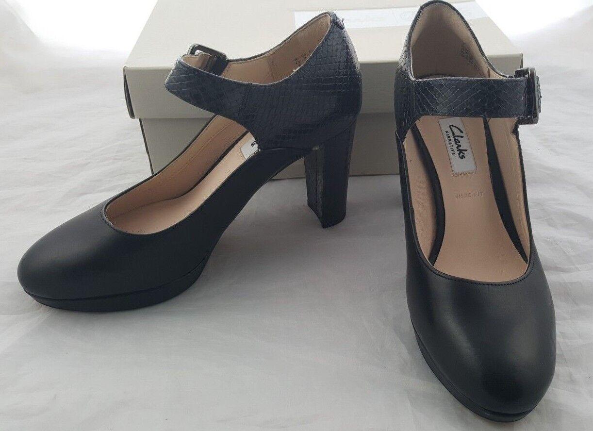 acquisti online Clarks Scarpe Da Donna Kendra Gaby Nero Taglia Taglia Taglia E EUR Taglia 37.5 Wide Fit  moda