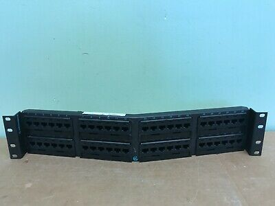 Used Ortronics OR-PHA66U48 Cat6 48 Port Angled Patch Panel 110//6 Port T568A//B
