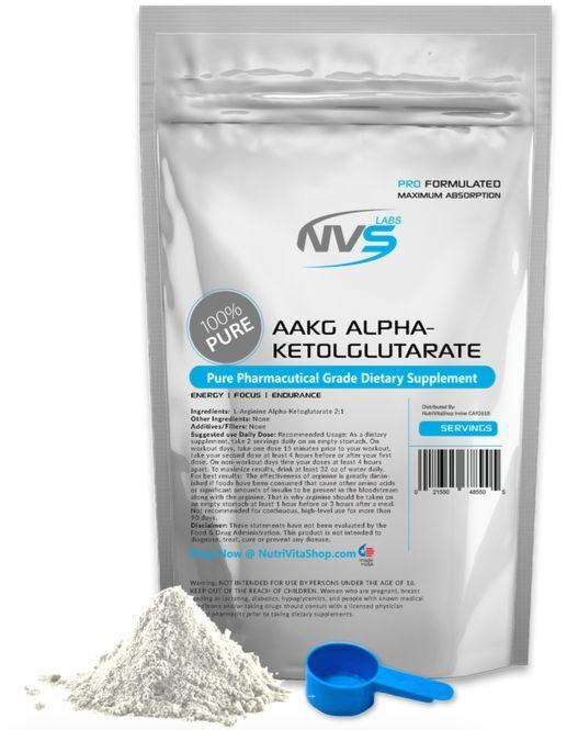 2500g (2.5kg kg) Nvs Labs 100% Aakg L-ARGININ Alpha-Ketoglutarat Pharmazeutische