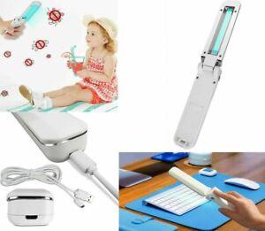 UV Sanitizer Handheld Wand Folding Light Kill Bacteria Germ Sterilizer Portable