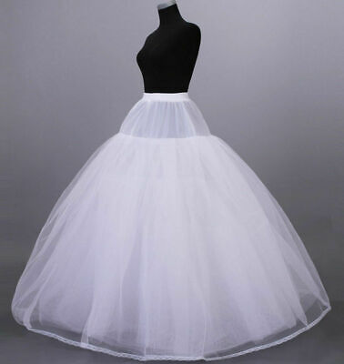 White 3 Or 8-Layers Tulle Hoopless Wedding Dress Underskirt//Underdress Petticoat