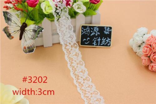 32 STYLE Vintage White net Lace Edge Trim Bridal Wedding Ribbon Sewing Craft DIY