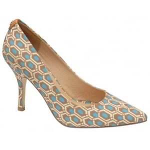 Vestido-de-noche-senoras-Ravel-Helena-Aqua-Puntera-en-punta-corte-Zapatos-De-Lona-Bomba-Reino-Unido