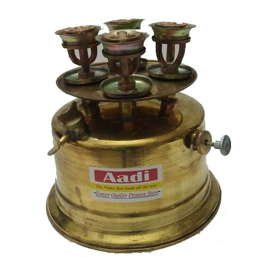 Brass Stove Kepinkne Stove 2.4L With Parts Lab, Hosp. Without Stand, 4 Burners.