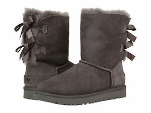 71be30e2b05 NEW WOMEN BOOT UGG BAILEY BOW II GREY 1016225 WATER STAIN RESISTANCE ...