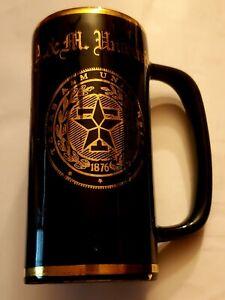 Vintage-Texas-A-amp-M-Skinny-Mug-Cup-Souvenir-Gold-Logo-Student-Memorial-Center