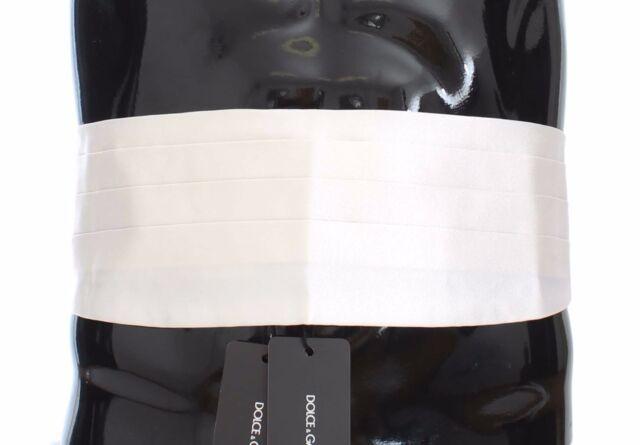 NEW $480 DOLCE /& GABBANA Cummerbund Black Waist Smoking Tuxedo Belt s IT52 XL