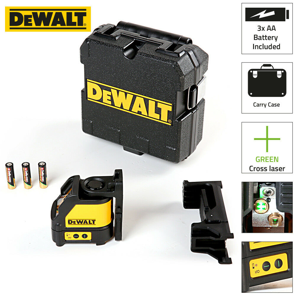 Dewalt DW088CG Grün Beam Cross Line Laser with Carry Case