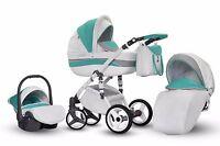 Baby Pram Stroller Buggy Pushchair Evado Eco Travel System Swivel Wheels