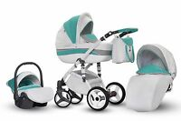 Baby Pram Stroller Buggy Pushchair Evado Eco Travel System Swivel Wheels