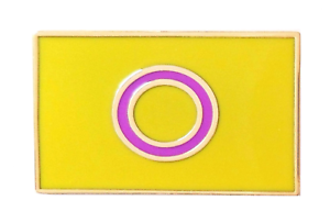 Intersex Pride Gold Plated Pin Badge