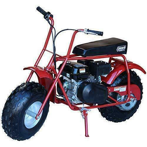 Coleman Ct200u Trail 200 Gas Powered Mini Bike Black Red For Sale Online Ebay