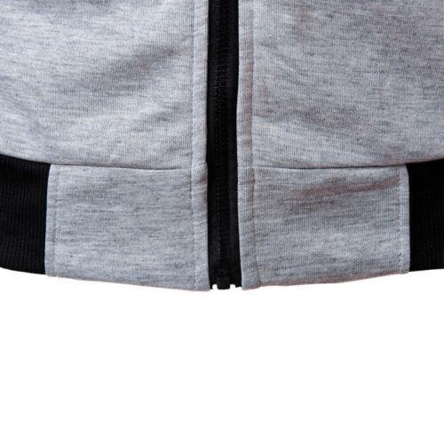 Men Hoodies Sleeveless Zipper Sweatshirt Hooded Jacket Vest Coat Sport Waistcoat