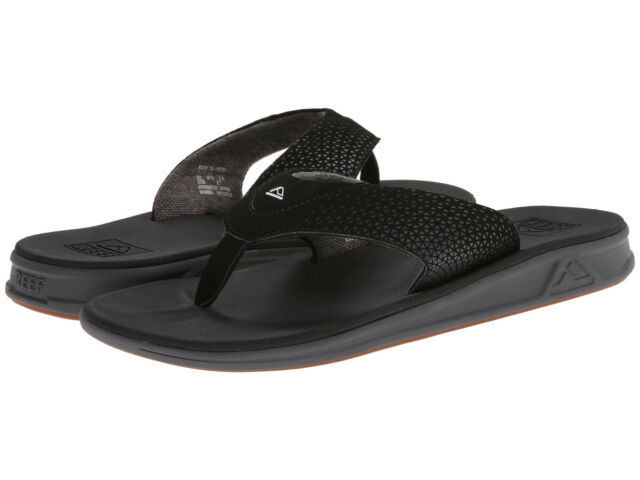 fine quality provide large selection of shopping Mens Flip Flops Reef Rover 002295 Black Sandals 9