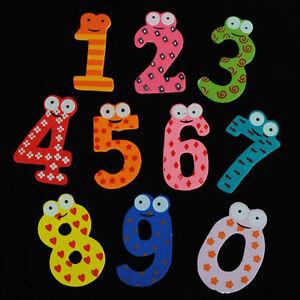 Set-of-10-Number-Baby-Kids-Cartoon-Educational-Toy-Wooden-Fridge-Magnet-0-9-MW