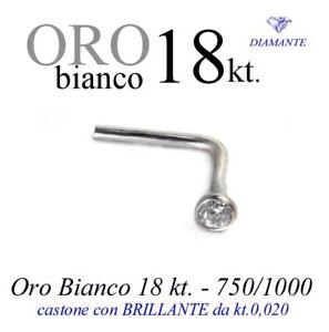 Piercing-naso-nose-in-ORO-BIANCO-18kt-con-DIAMANTE-kt-0-020-white-GOLD-DIAMOND