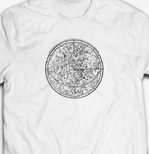 purchase cheap the best attitude san francisco Détails sur Vintage astronomie astrologique Cosmos Graphique Carte 100%  Coton T-shirt homme tee- afficher le titre d'origine