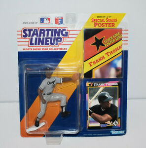1992 Kenner Starting Lineup Frank Thomas Chicago White Sox with Poster /& Card
