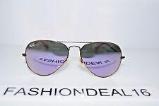 New Ray-Ban Aviator Bronze Lilac Mirrored RB3025 167/4K Rayban 58mm Sunglasses