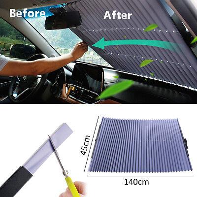 Car SUV Windshield Visor Retractable Window Sun Shade Folding Auto Block  Cover  f9390b59399