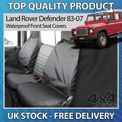 LAND ROVER DEFENDER 110 130 WATERPROOF 2ND ROW SEAT COVERS IN BLACK DA2828BLACK