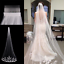 White-Ivory-1T-Cathedral-Applique-Edge-Lace-Bridal-Wedding-Veil-With-Comb-3M-MY thumbnail 1