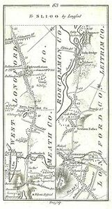 Antique map, Road from Dublin to Sligo, by Longford (2)