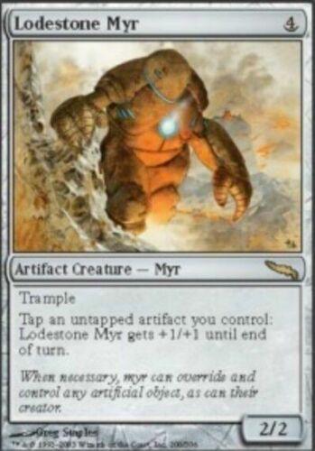 Mirrodin Rare Artifact 2x MTG: Lodestone Myr MRD Magic Card