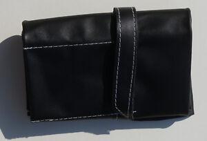 Watch-Roll-fuer-6-Uhren-Transportrolle-echt-Leder-schwarz-ungefuettert