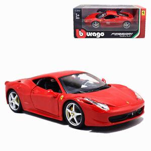 Ferrari 458 Italia Red 1//24 Diecast Model Car by Bburago