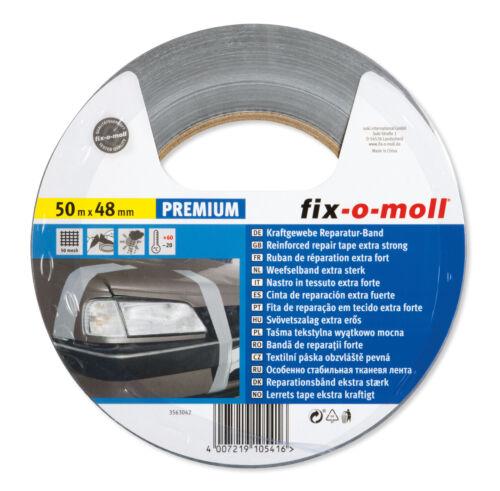 fix-o-moll Powerband premium silber 50m x 48mm 0,20 EUR//m