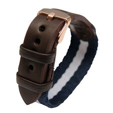 Quality Nylon / Leather Watch Band Strap Fit DW Daniel Wellington 40mm Watch